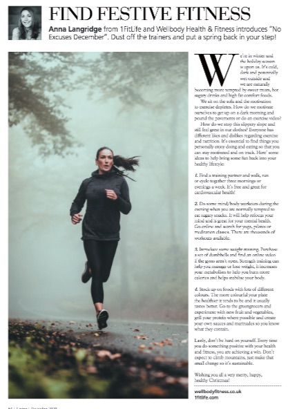 girl running in magazine article